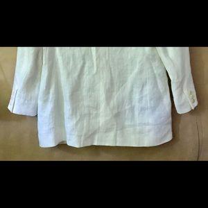 Calvin Klein Tops - Vintage Calvin Klein White Linen Jacket size 14